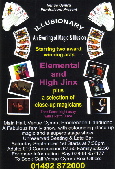 Illusionary: an evening of magic and illusion