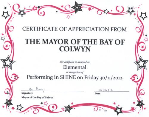 shine-certificate