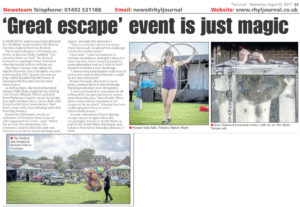 "Article from the Rhyl Journal titled ""'Great escape' event is just magic"""