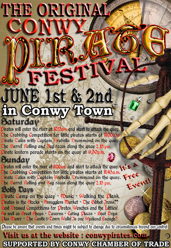 Conwy Pirate Weekend 2019 flyer