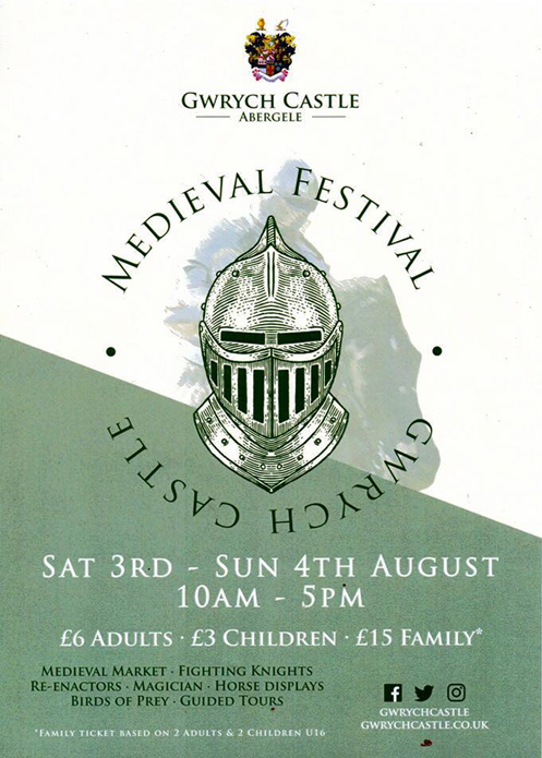 Gwrych Castle Medieval Festival 2019 Poster