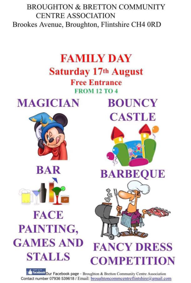 Broughton & Bretton Family Day 2019 poster