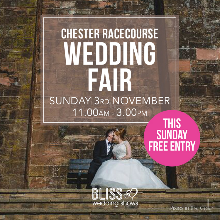 Chester Rececourse Wedding Fair Sunday 3rd November 2019