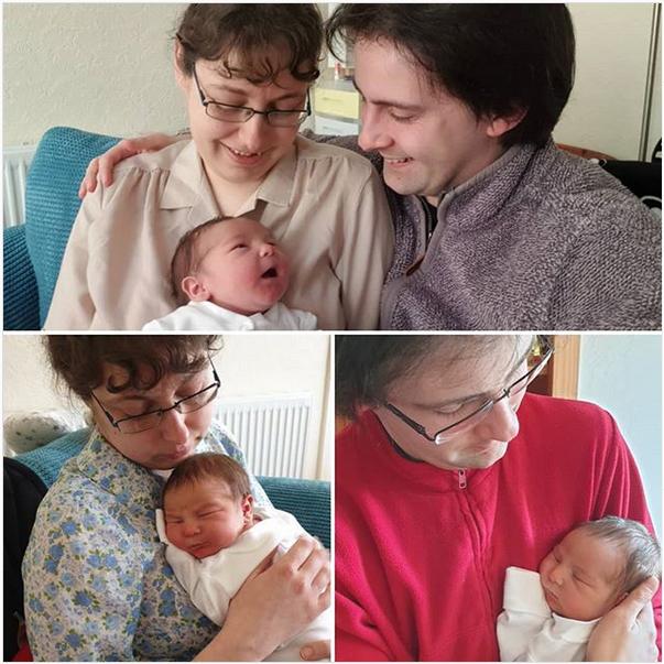 Jay Gatling with his newborn son Ben