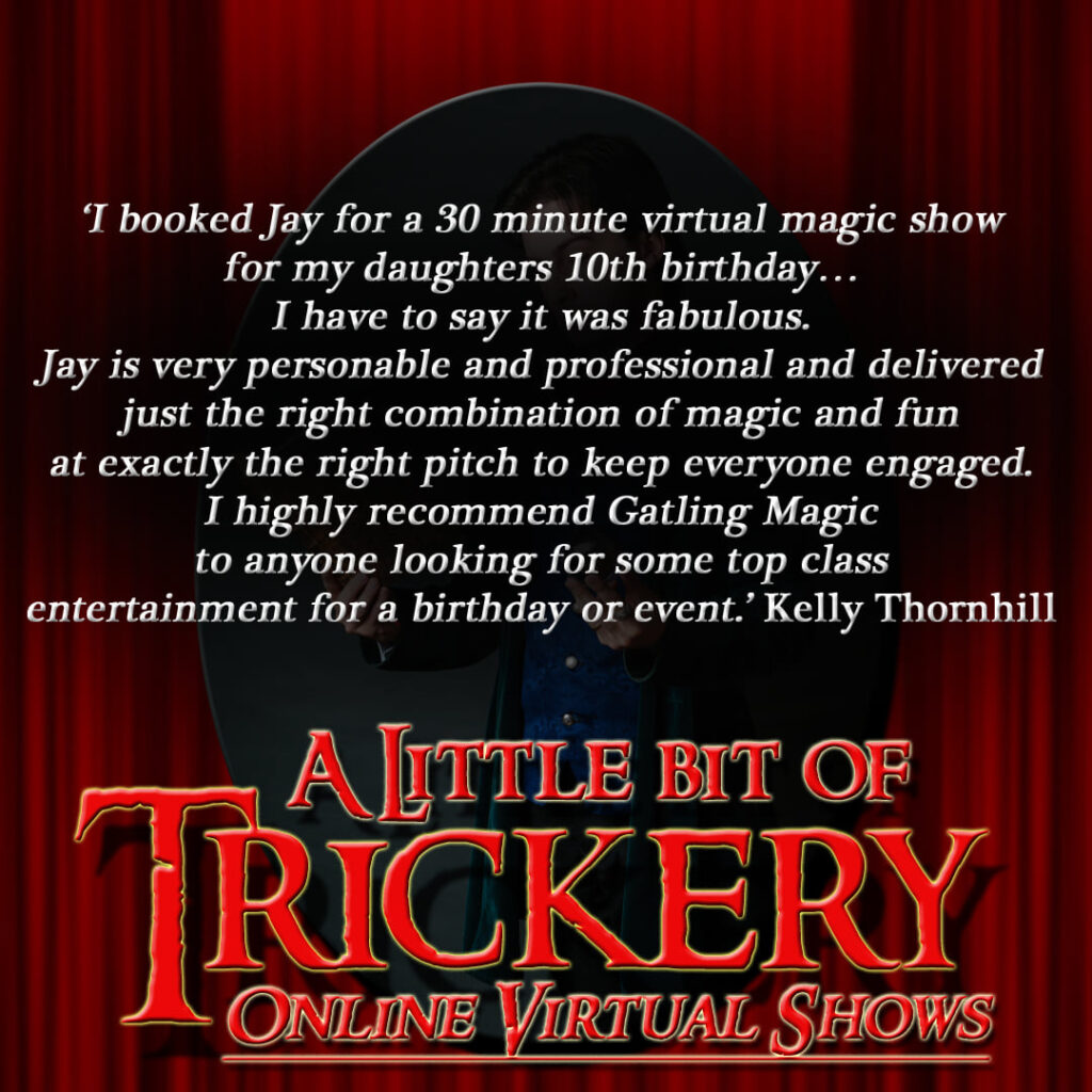 "Text of a review for ""A Little Bit of Trickery"""