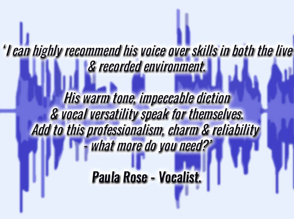 Text of a positive review from Paula Rose, vocalist