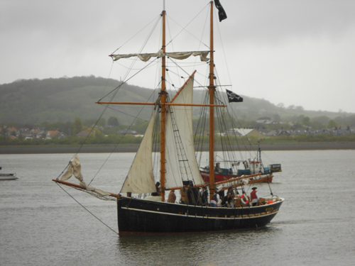 pirate ship in conwy harbour