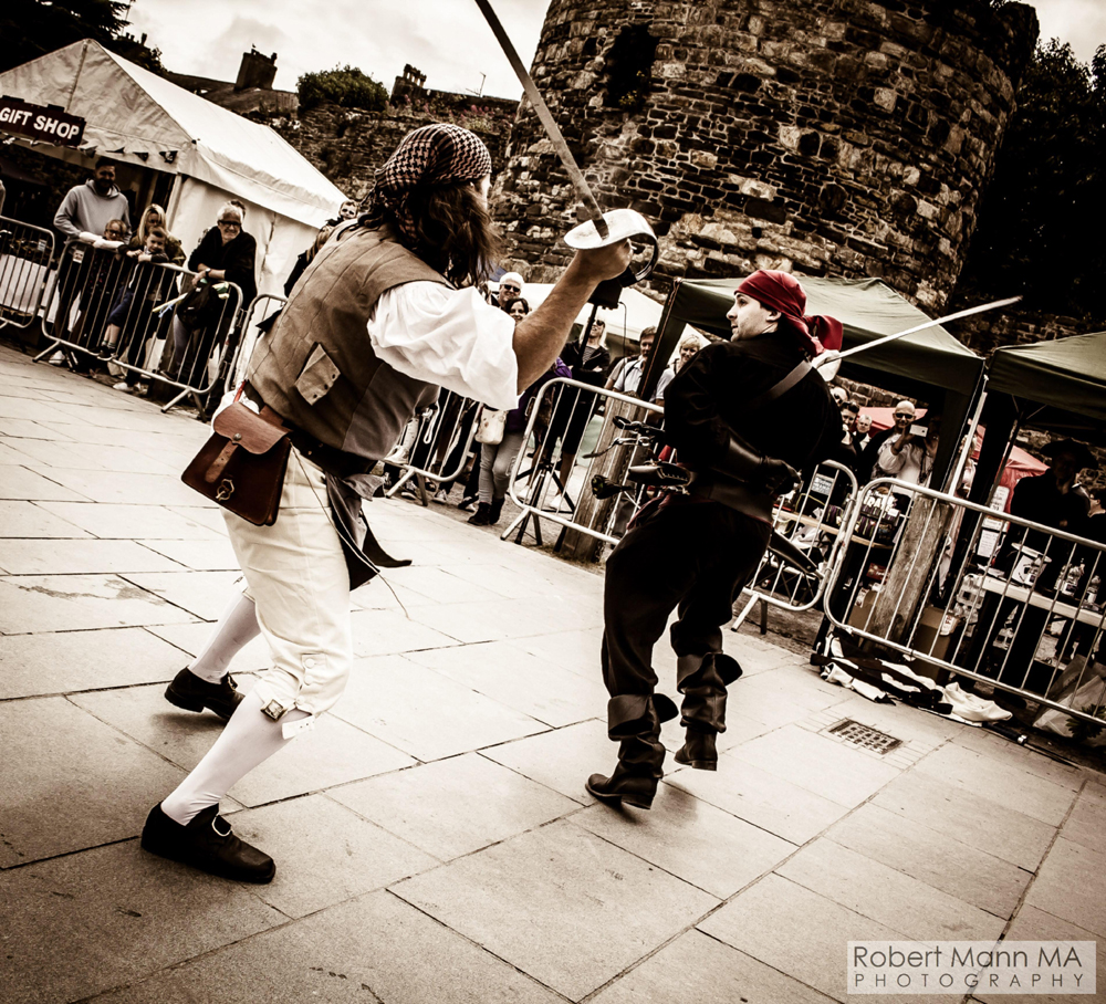 original conwy pirate weekend 2018 sword fight