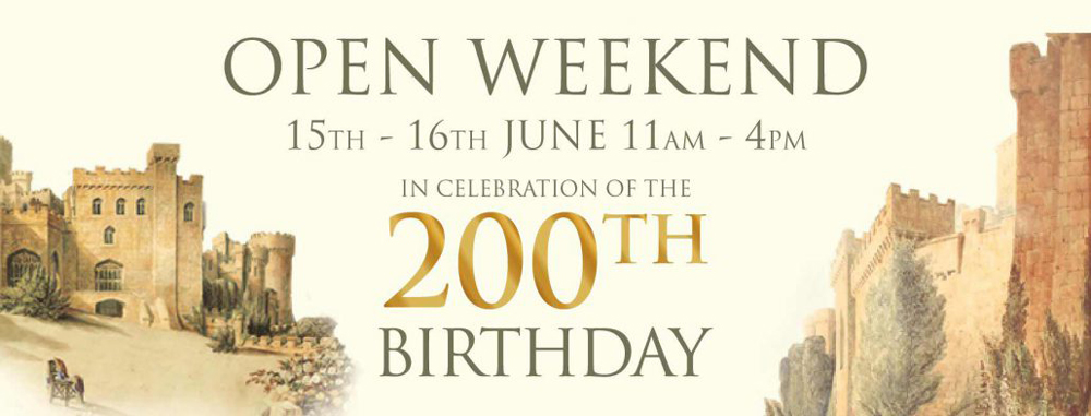 Gwrych Castle 200th Anniversary open weekend 15-16th June 2019