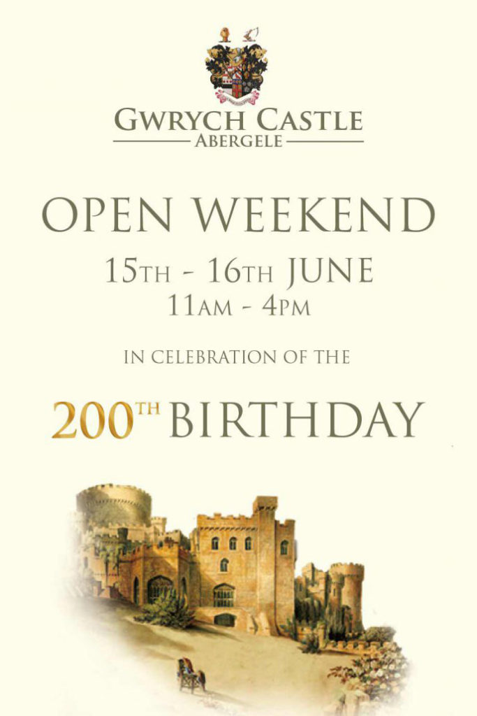 Gwrych Castle open weekend 15-16th June 2019 200th birthday